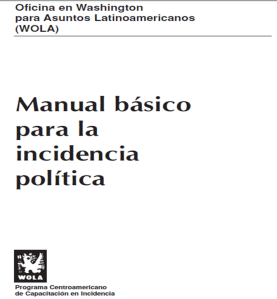 Manual Wola de Incidencia política.