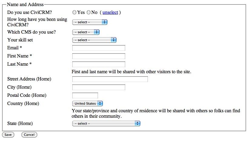 Using CiviCRM Profile for a Survey CiviCRM - survey form