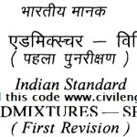 IS 9103:1999 – Indian Standard Concrete Admixtures – Civil Engineer