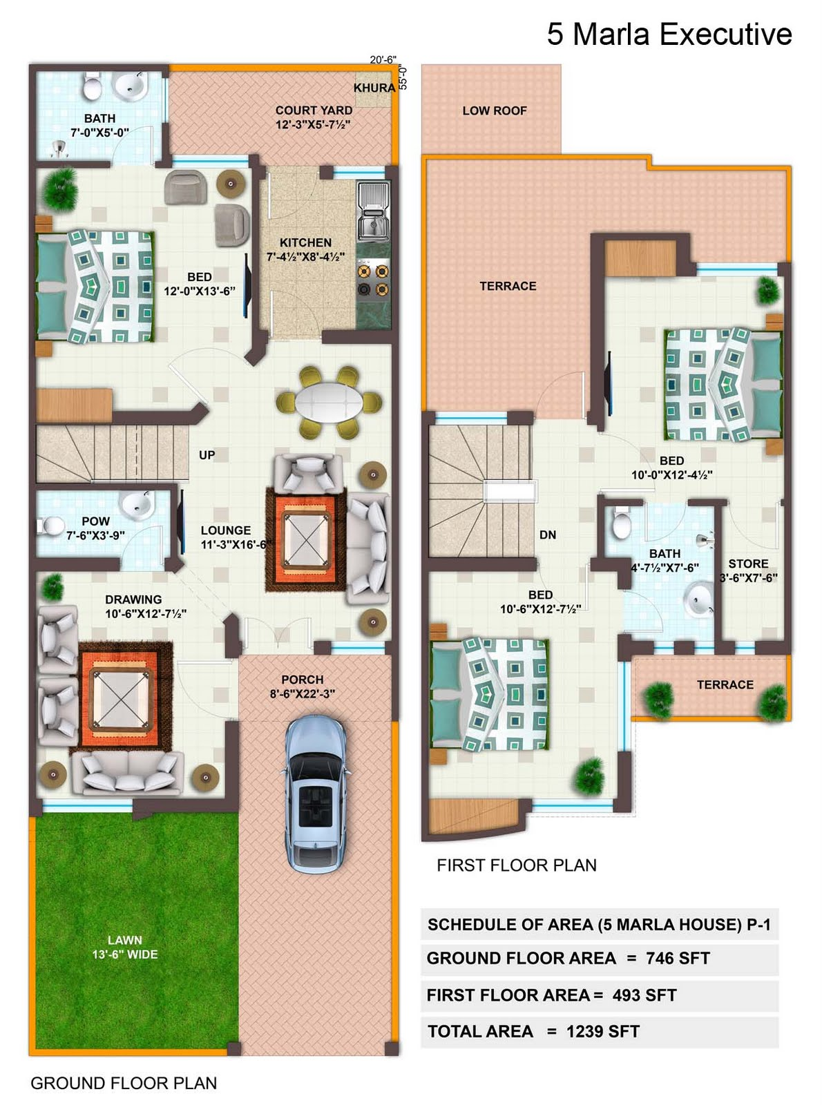 Pin House Maps 7 Marla Design Picture on Pinterest