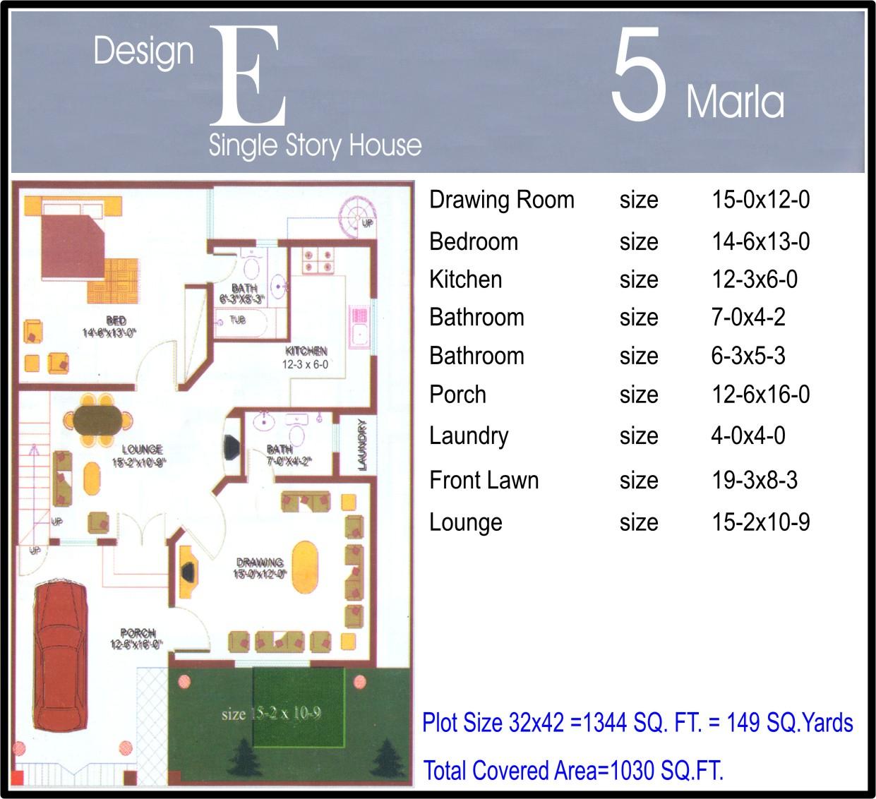 Marla house Plans - Civil Engineers PK
