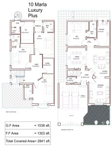 10 marla house plans civil engineers pk