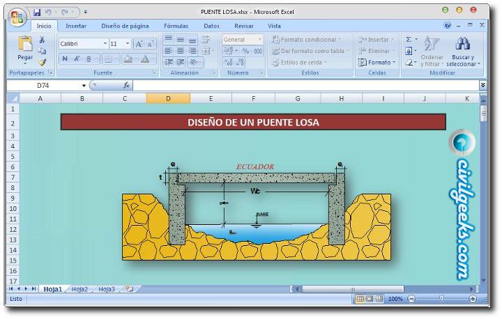 Descarga hojas de cálculo y plantillas excel para ingeniería civil