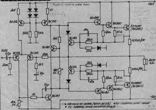 car active crossover circuit schematic