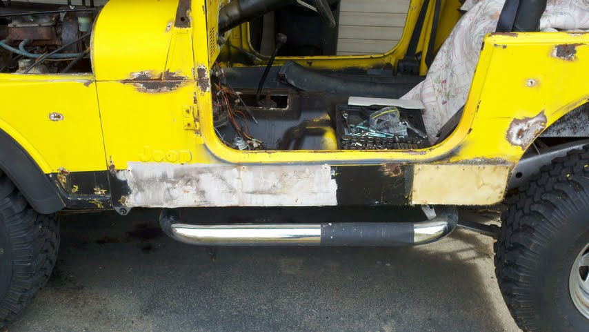 Replace Floor Pans Jeep