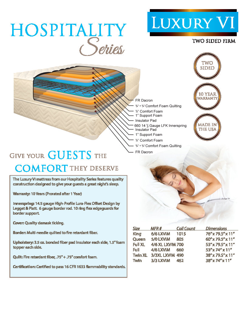 Vi Mattress Luxury Vi Hospitality Series Mattress Cj Beds