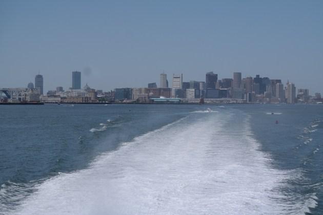 Boston Harbour Whale Watch Schiff Skyline