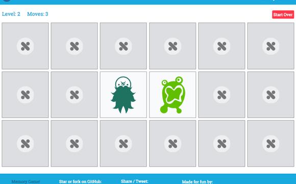 Call Me nick el juego de memoria creado en JavaScript