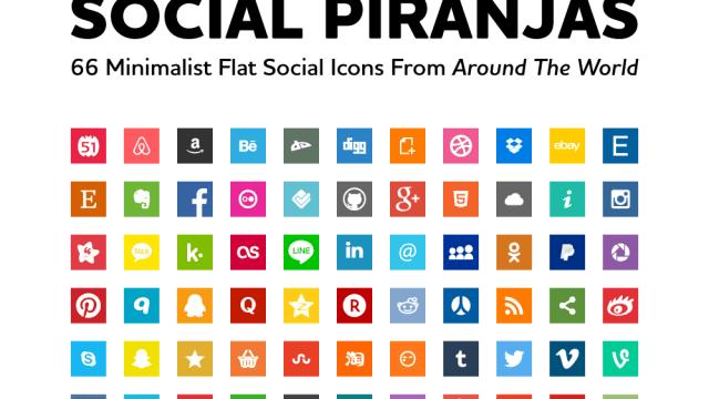 Social Piranjas Square - Iconos Sociales