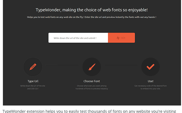 Type wonder: Una de las extensiones para Google Chrome