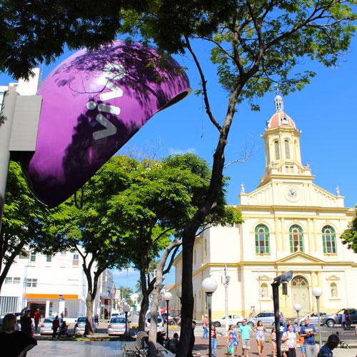 Praça da Matriz no Centro de Itu