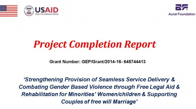 GEP Annual Report \u2013 CENTRE FOR LEGAL AID ASSISTANCE  SETTLEMENT