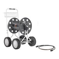 Jumbo 4 Wheel Garden Hose Reel with 265-Foot 5/8-Inch ...