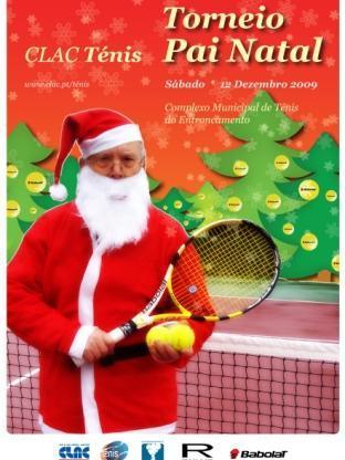 O Pai Natal esteve no nosso Torneio de Ténis