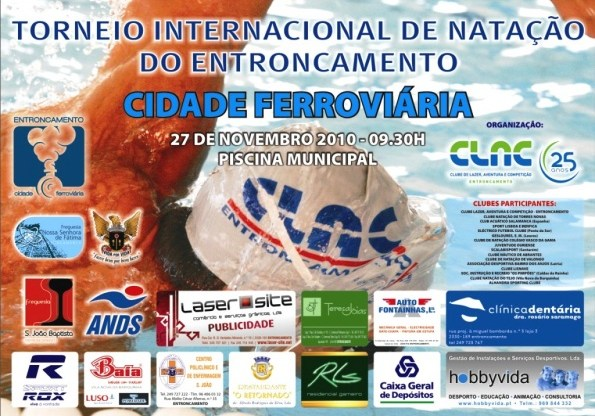 Salamanca e SLBenfica presentes no torneio Natação