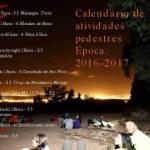 Calendário das atividades pedestres época 2016/2017