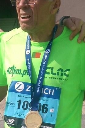 CLAC na Maratona de Sevilha  Manuel Maia, medalha de prata em M75