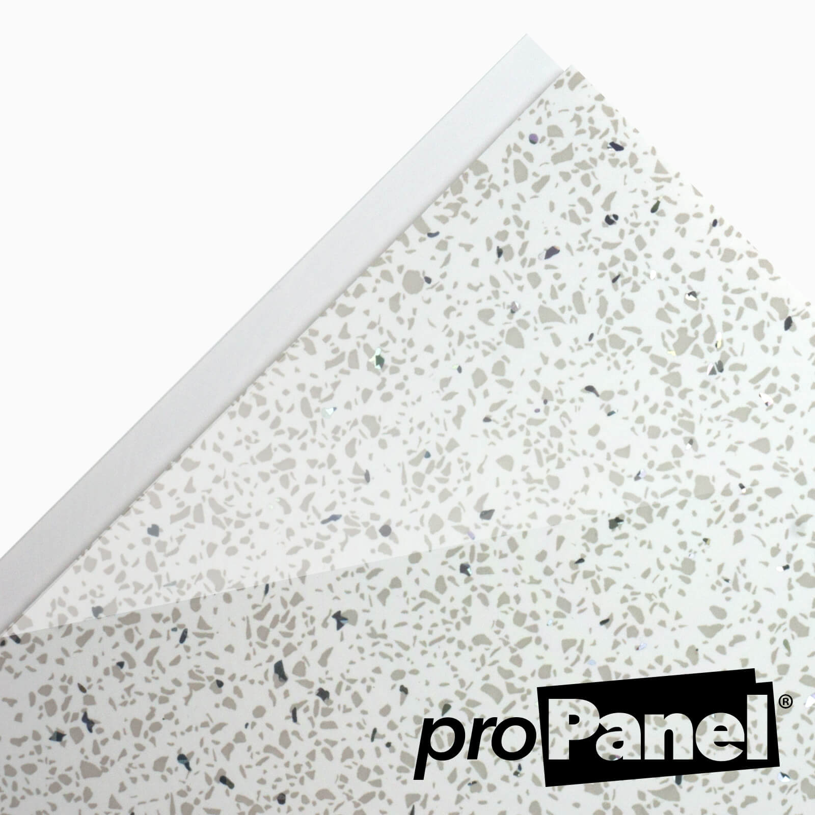 White Sparkle Cladding 5mm X 250mm X 2700mm Cladding Store