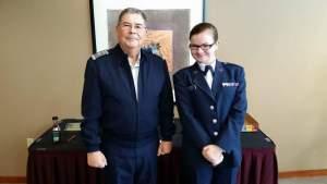 Brig. Gen. Myrick and C/TSgt Abby Wittekind