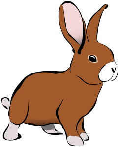 cartoon brown bunny