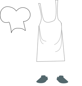 chef apron and hat