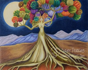 """Grace in Full Bloom"" 20"" x 16"" Colored Pencil on Bristol Board"
