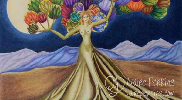 """Grace in Full Bloom"" 20"" x 16"" Colored Pencil on Bristol Board"