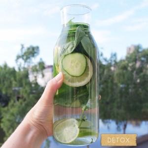 Mon eau detox ! Citron  concombre  basilic detoxwaterhellip