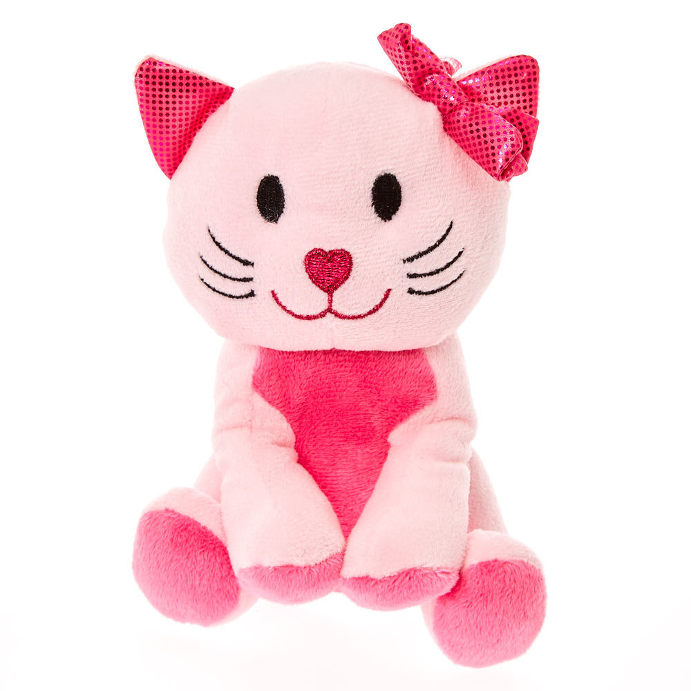 Cat Plush Toy Claire S Club Small Avery The Cat Plush Toy Pink