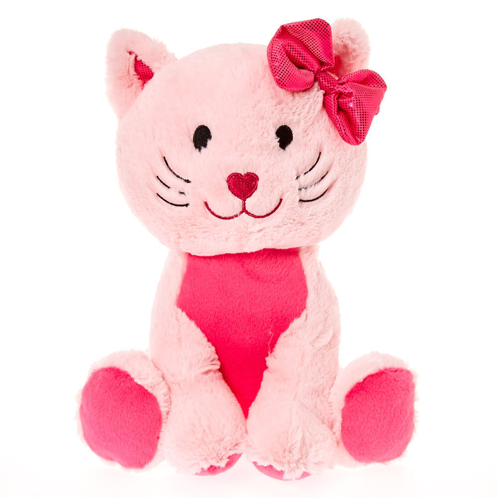 Cat Plush Toy Claire S Club Medium Avery The Cat Plush Toy Pink