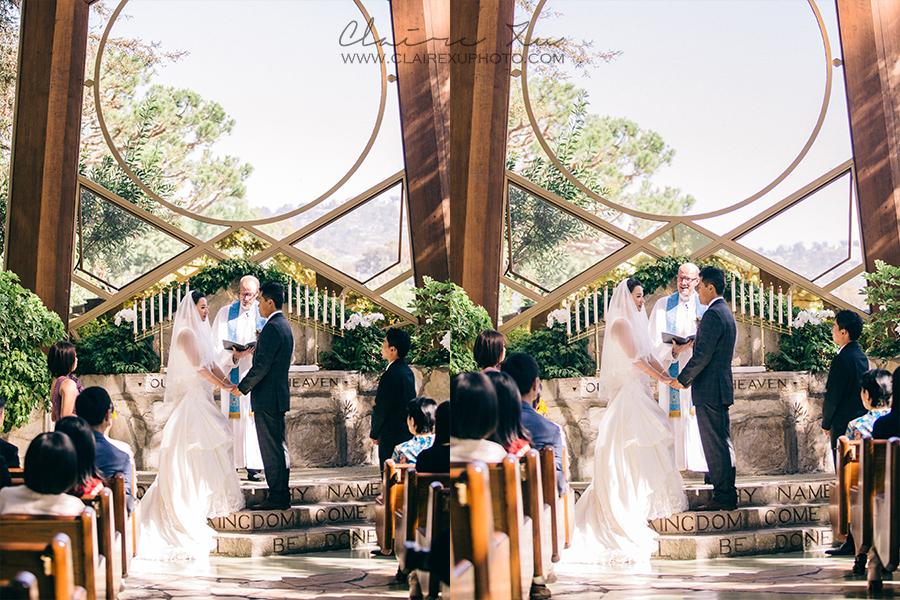 Palos Verdes Wayfarers Chapel Wedding Claire Xu Photography