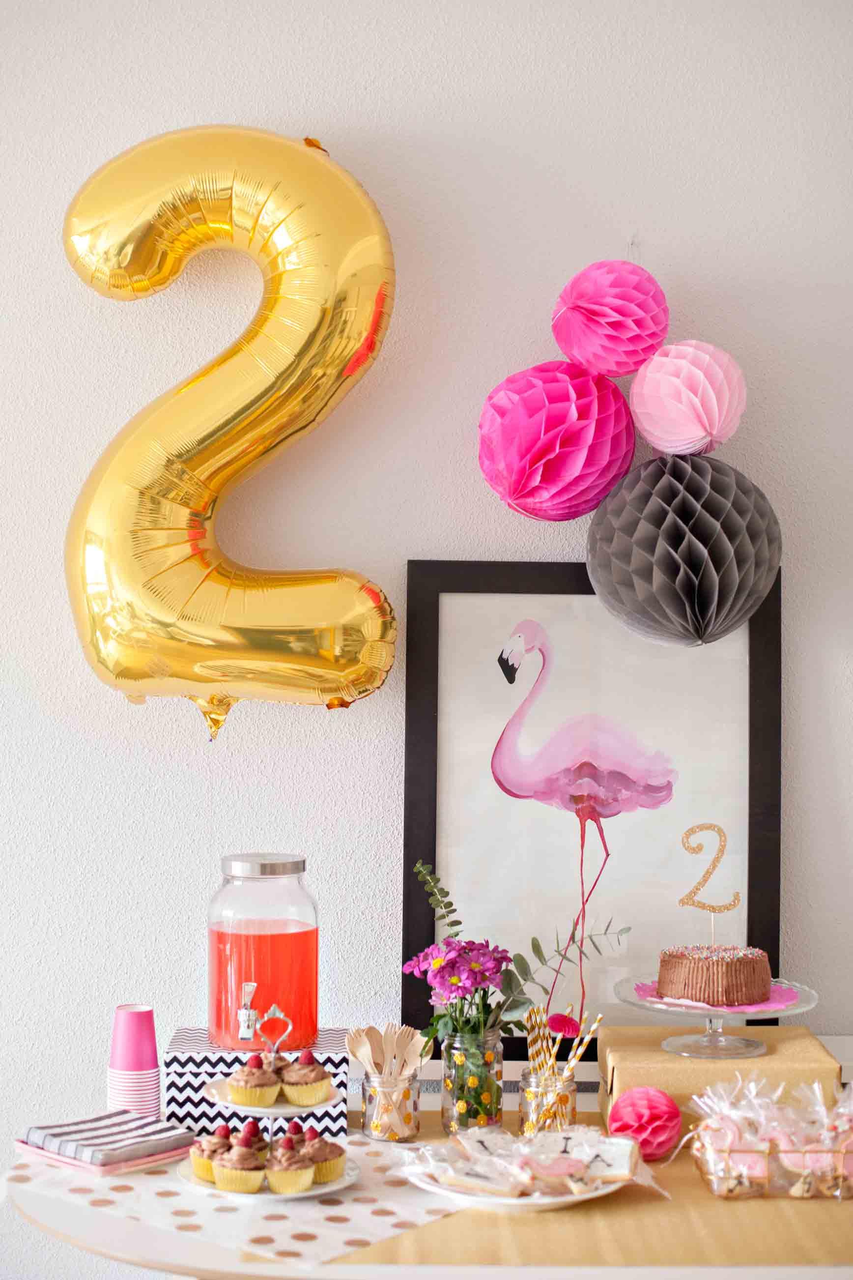 fiesta de cumpleaños con flamencos - flamingo birthday party