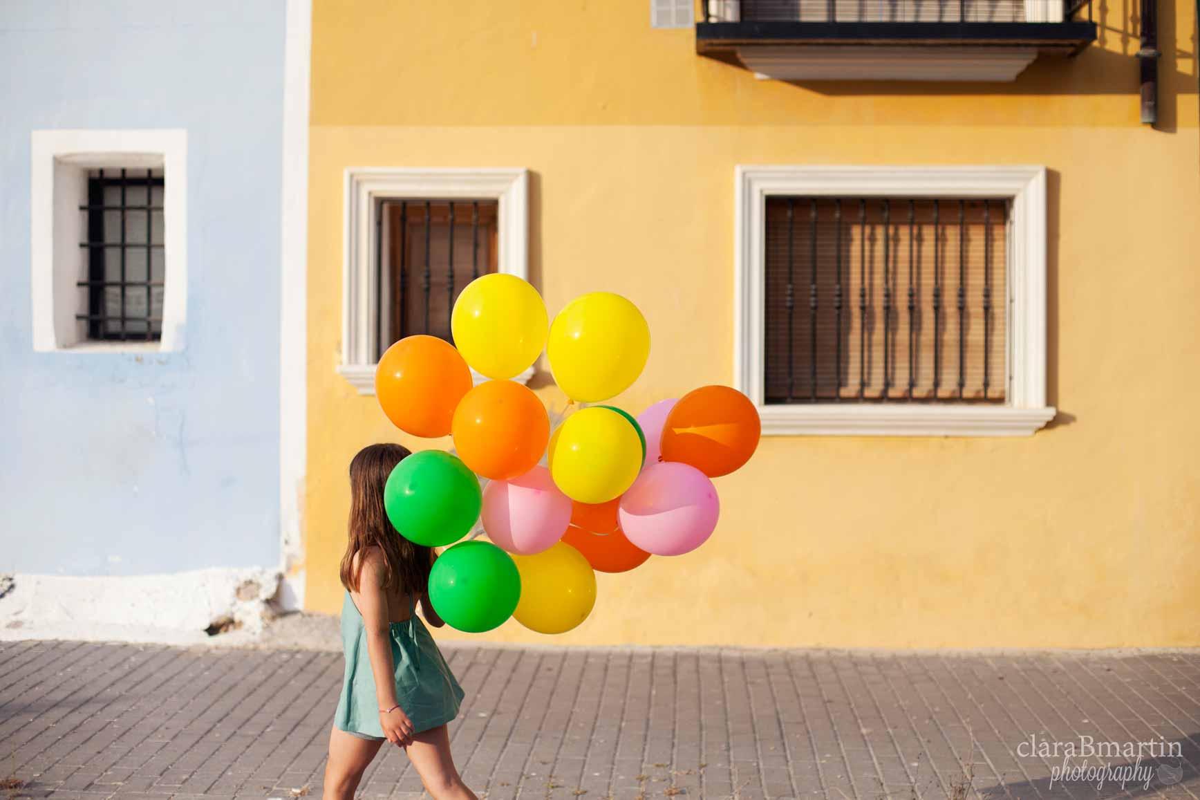 fotos con globos helio