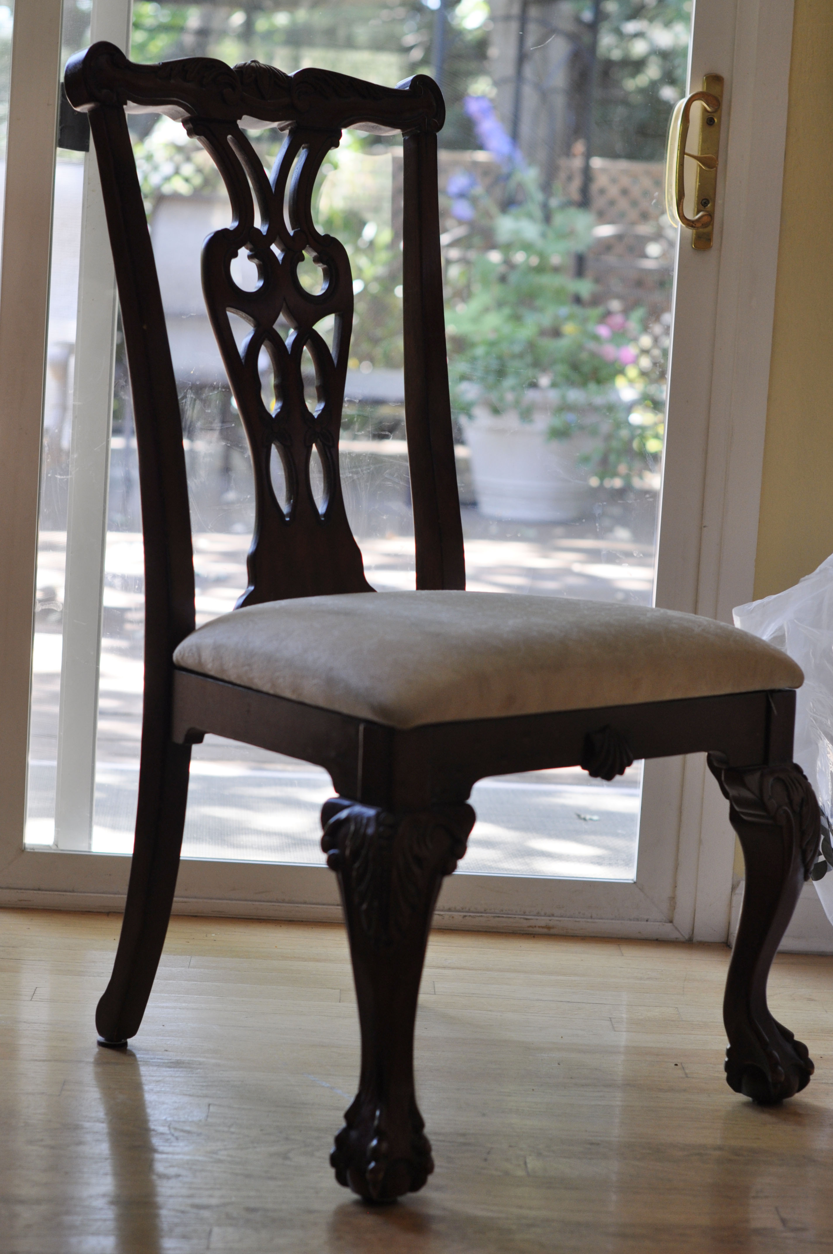 Dining Room Chair Patterns Diy Reupholstering My Dining Room Chairs Decoration