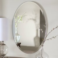 Oval Frameless Bathroom Mirrors | Decoration Designs Guide