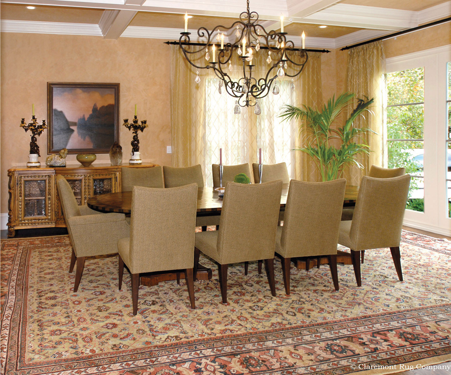 Dining Room Carpet Antique Persian Sultanabad Rug In Decor In Dining Room