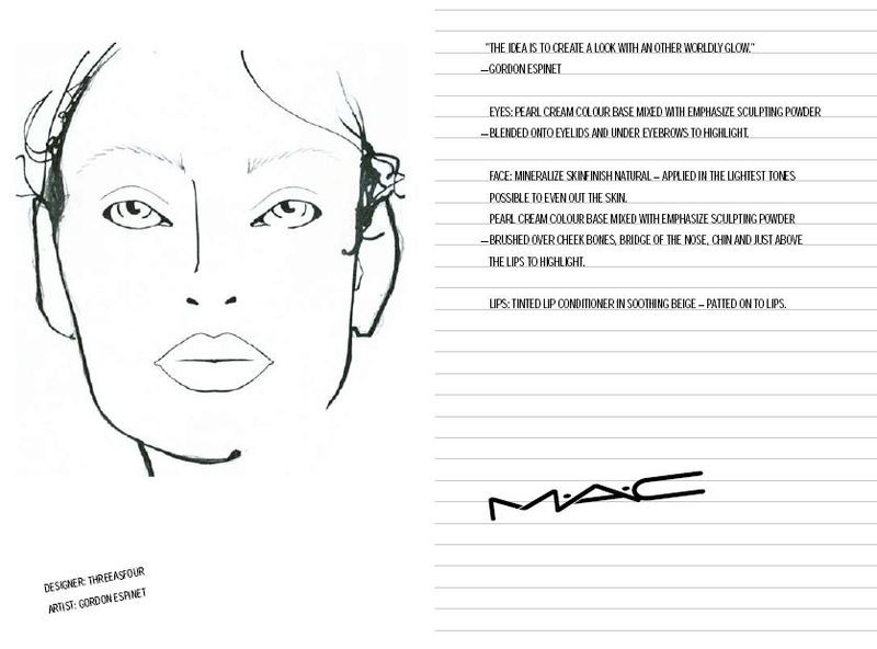 Fashion Week Fall 3909 Mac Face Charts 21409 Adam