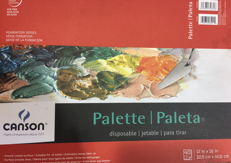 Dominik suggests using this type of disposable pallete paper