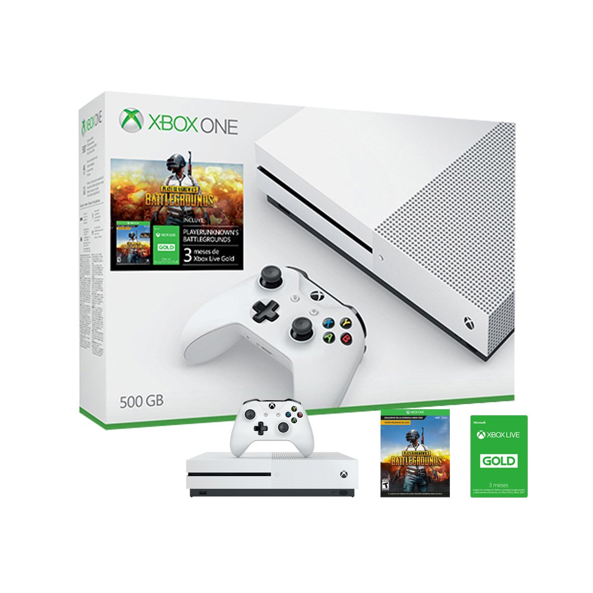 Tarjeta Xbox Live 3 Meses Consola Xbox One S 500gb 43 Playerunknown 39s Battlegrounds