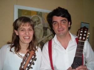 Guitarists Stella Dinkova (Bulgaria) and Darko Bageski (Macedonia)