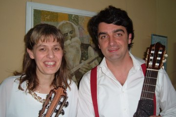 Guitarists Stella Dinkova (Bulgaria) and Darko Bageski (Macedonia)