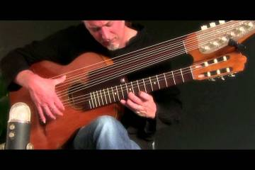 Beethoven's 'Moonlight Sonata' Performed on a 15-String Harp Guitar