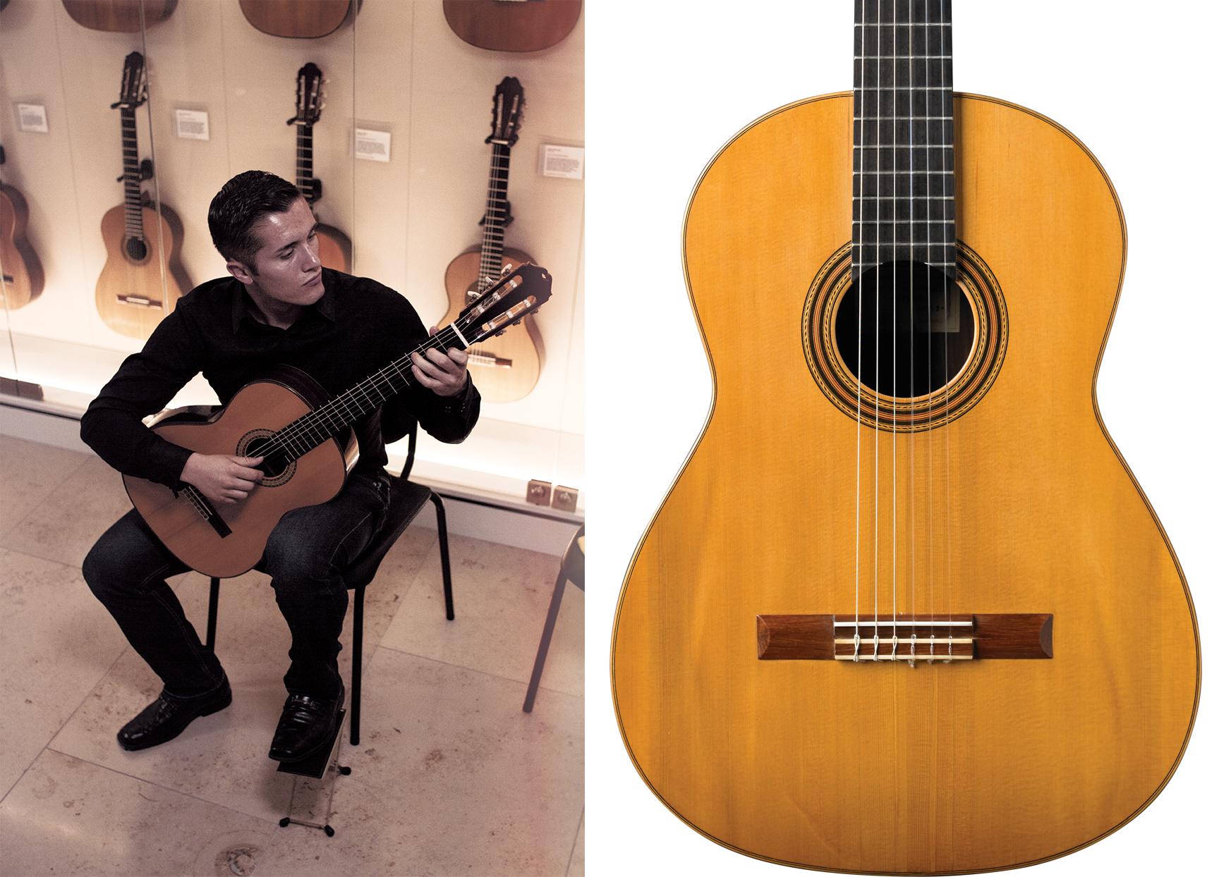 Harris Collection Guitars, Nathan Martinez plays the Masaru Kohno 1976 and the 1930 Santos Hernández guitar