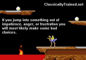 joust quote classically trained