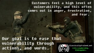 customer service metal gear solid life lessons from video games