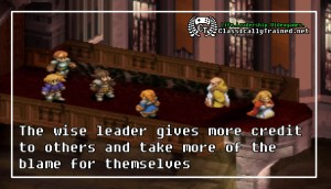 final fantasy tactics leadership blame