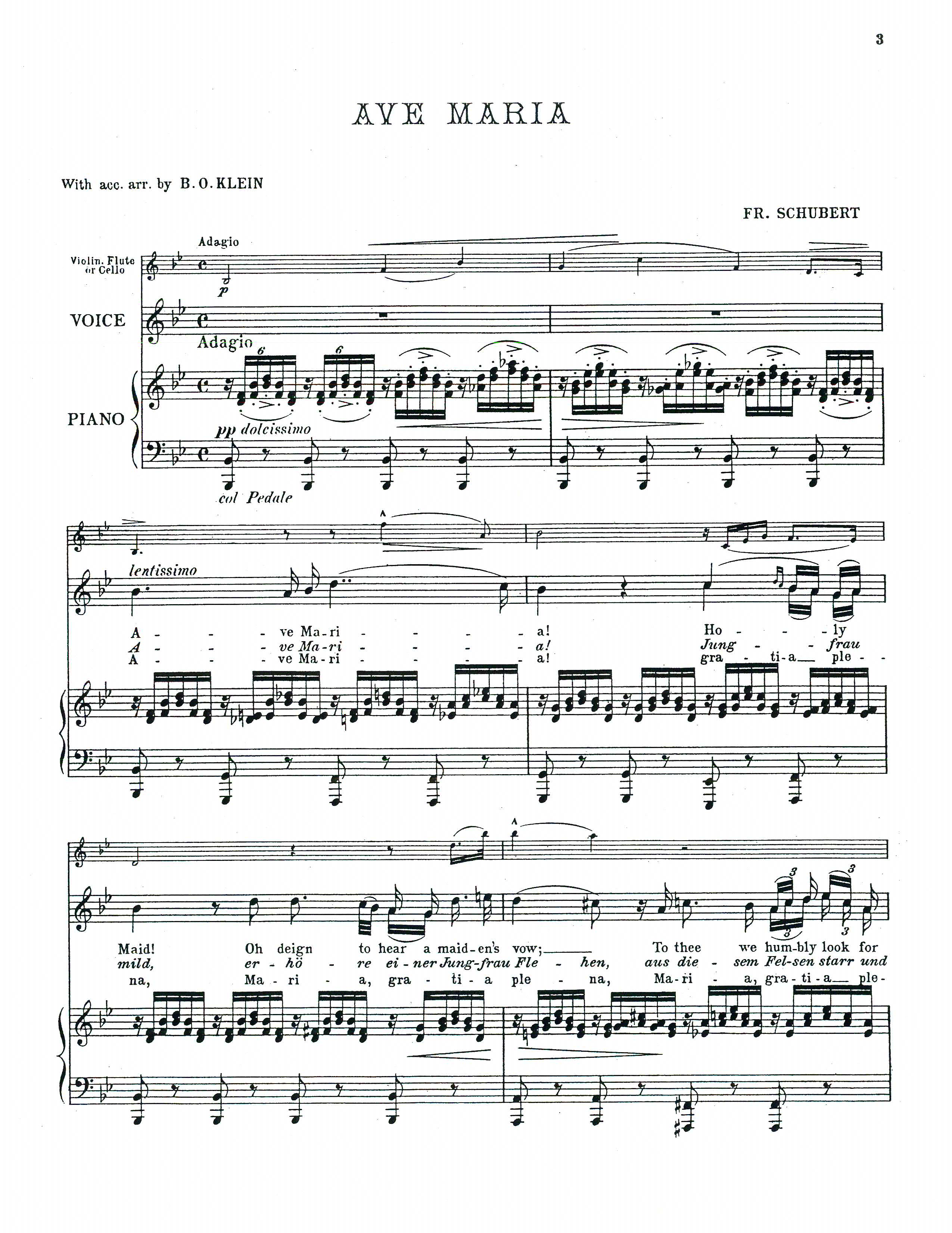 Ave Maria Text Deutsch Hochzeit Classical Vocal Reprints Product Page Sheet Music Pdf