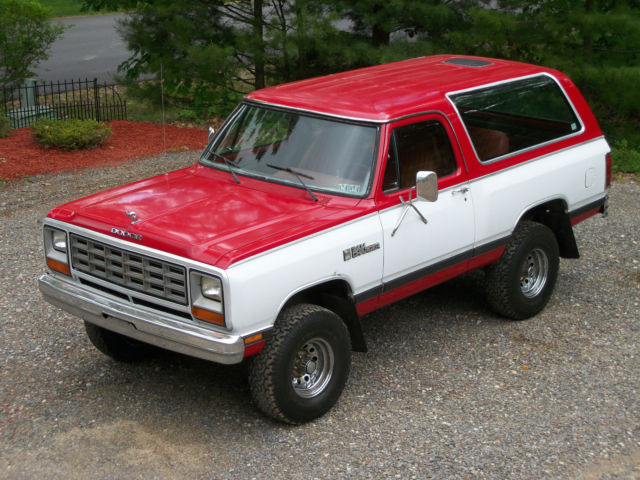 1985 DODGE RAMCHARGER 150 ROYAL SE 4X4 UTILITY-ONE OWNER-MOPAR