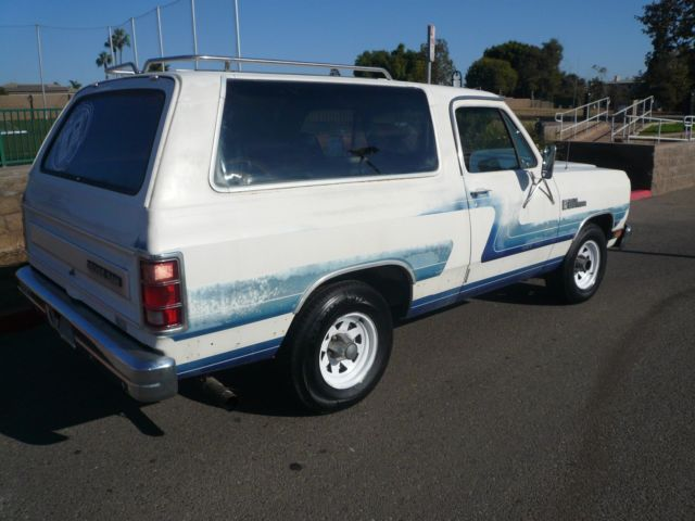 1987 DODGE RAMCHARGER RUST FREE 2WD RUNS GREAT 59 LITRE for sale