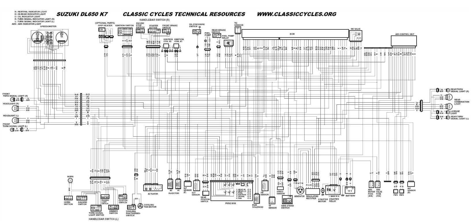 1999 suzuki bandit 1200 wiring diagram